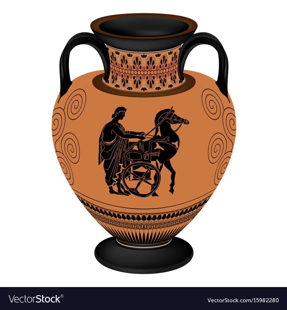 Greek vase royalty free vector image vectorstock greek vase vector image reviewsmspy