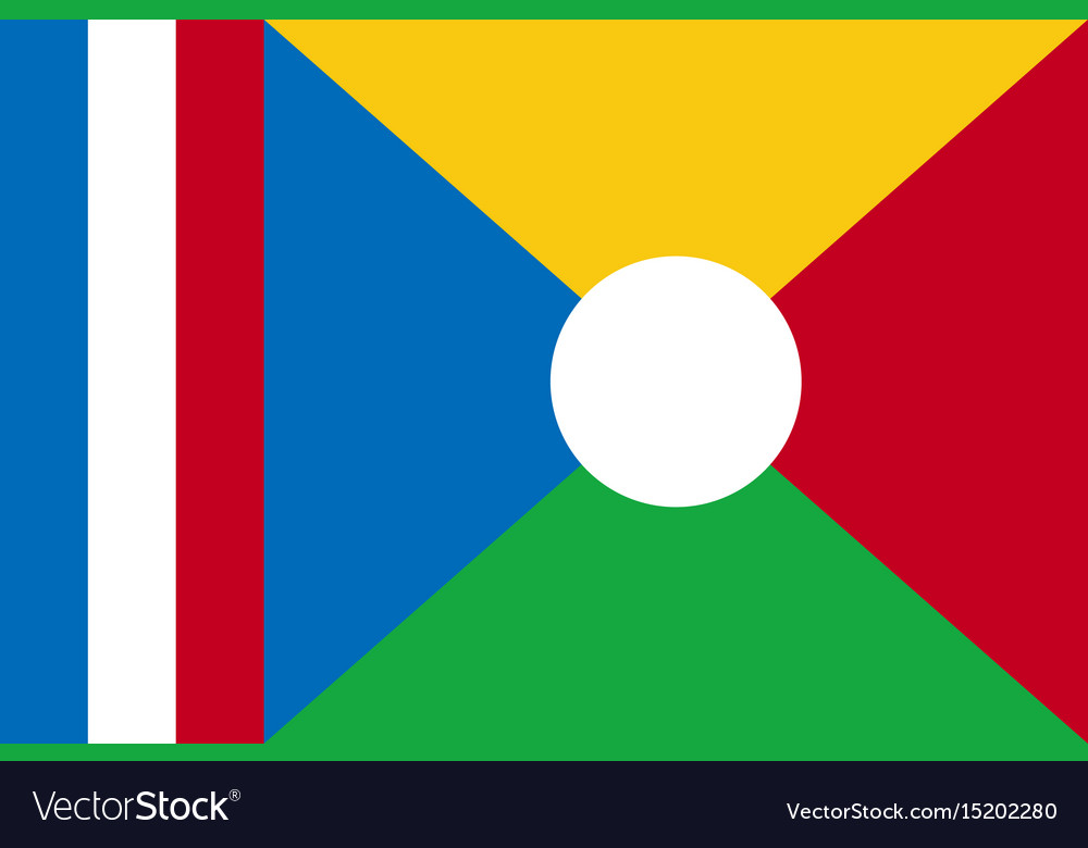 National flag of la reunion vector image