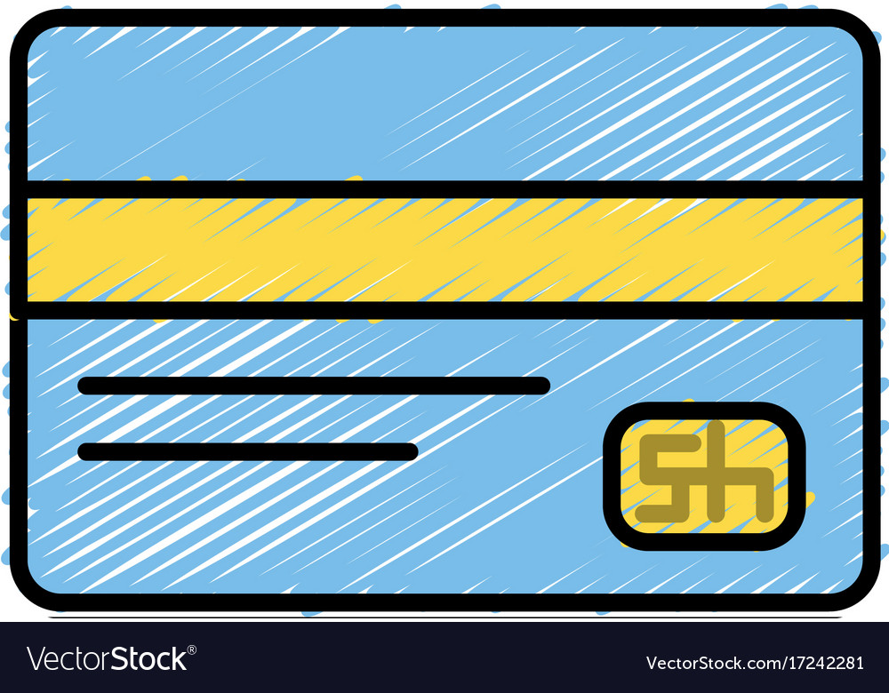 Business credit card to buy things Royalty Free Vector Image