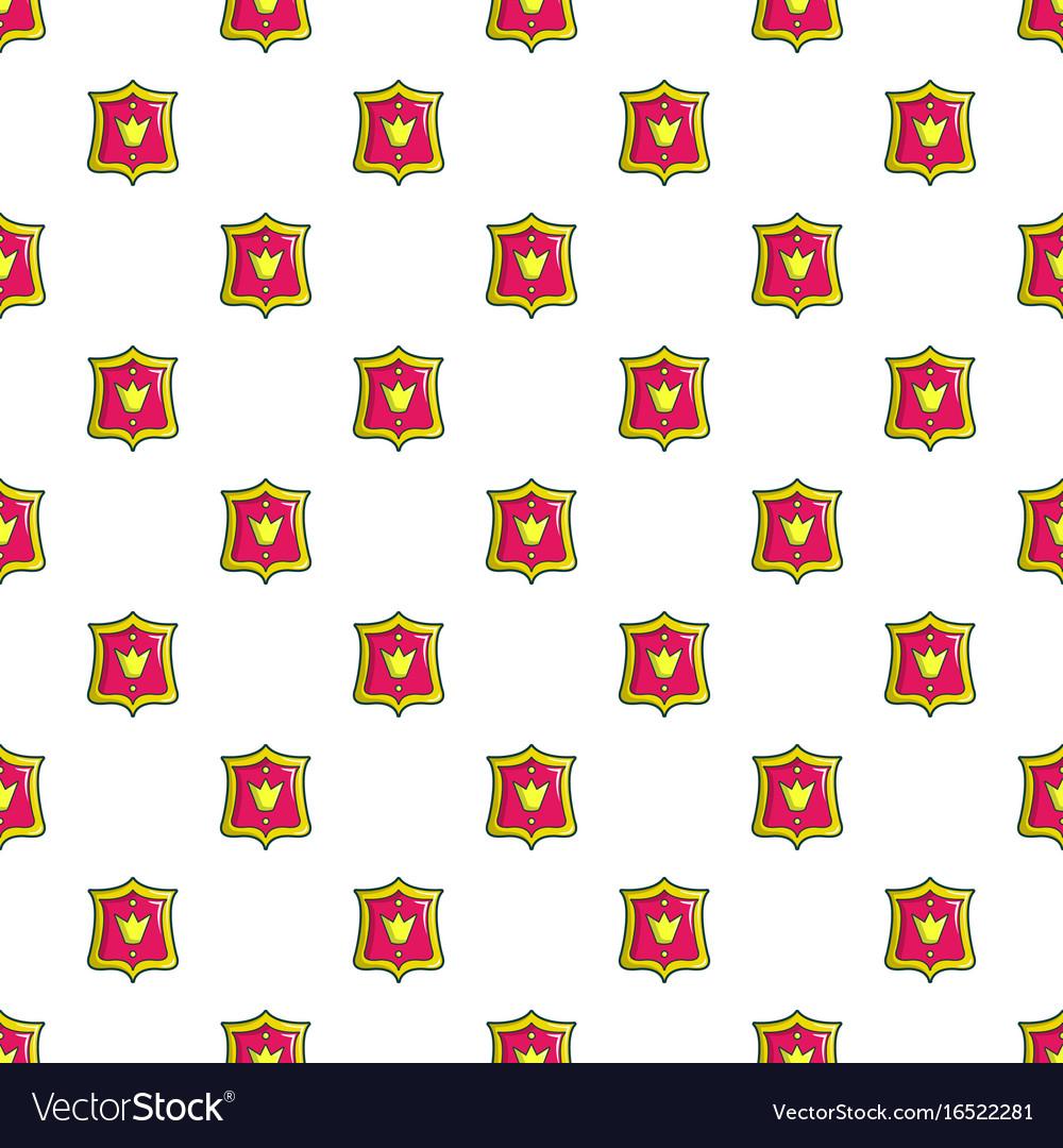 Princess emblem pattern seamless vector image
