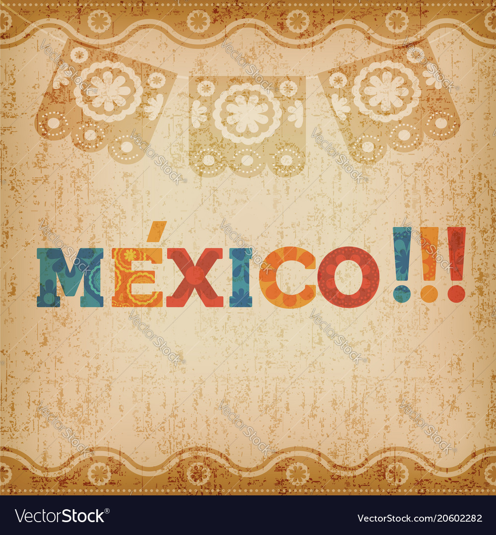 Happy mexico greeting card for mexican holiday vector image m4hsunfo Image collections