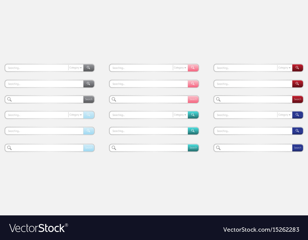Box for searching on the site vector image