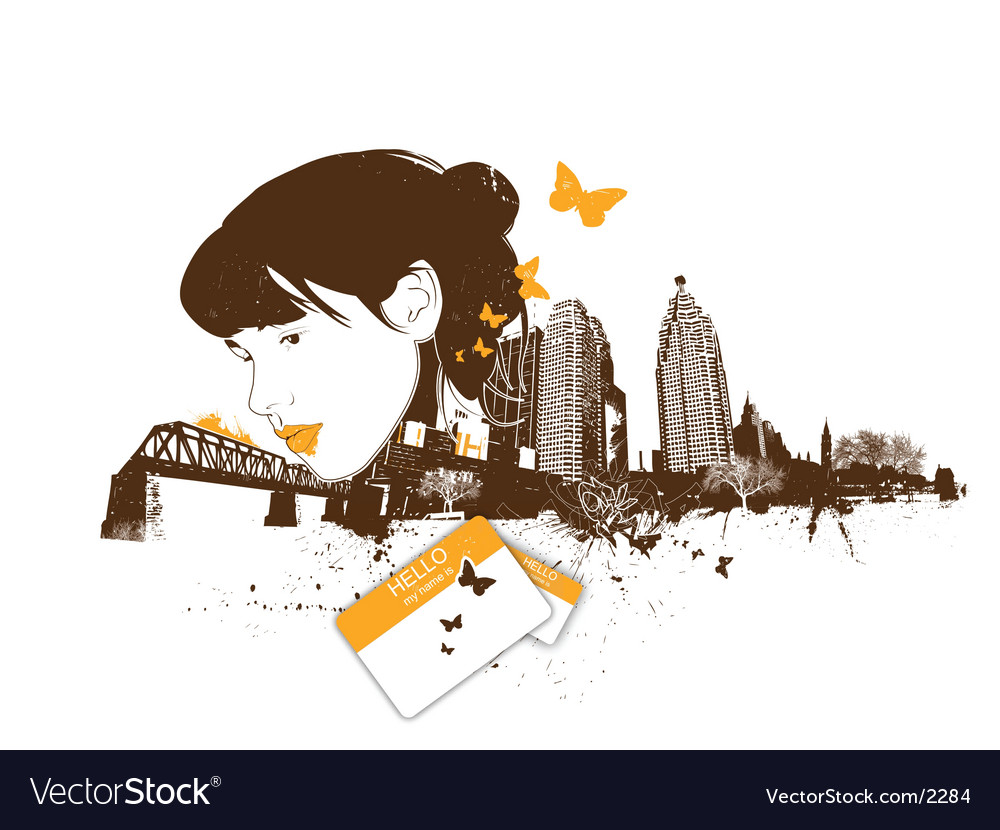 City girl vector image