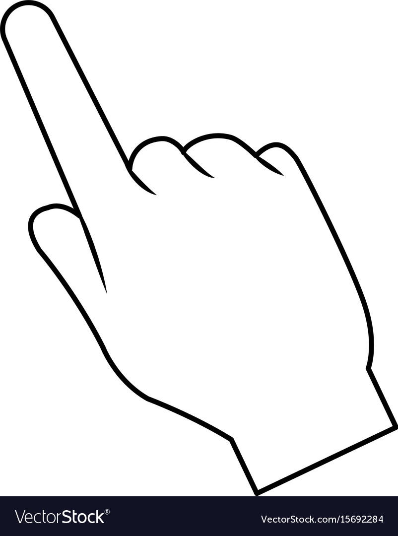 Hand pointing finger cursor icon vector image