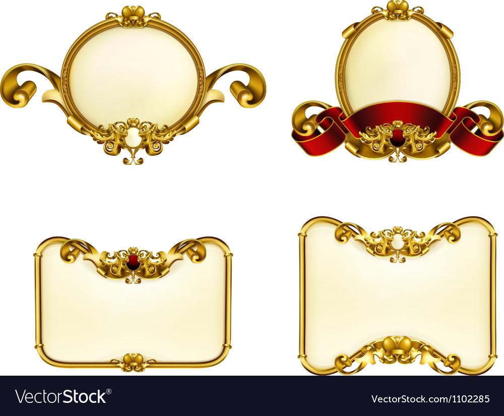 Vintage emblem set vector image