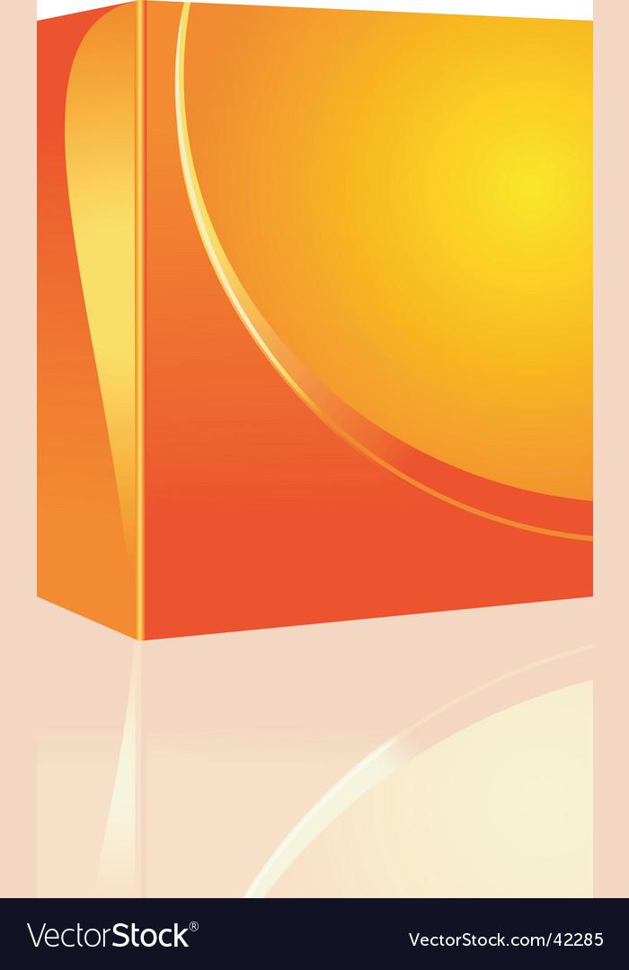 Software box design vector image