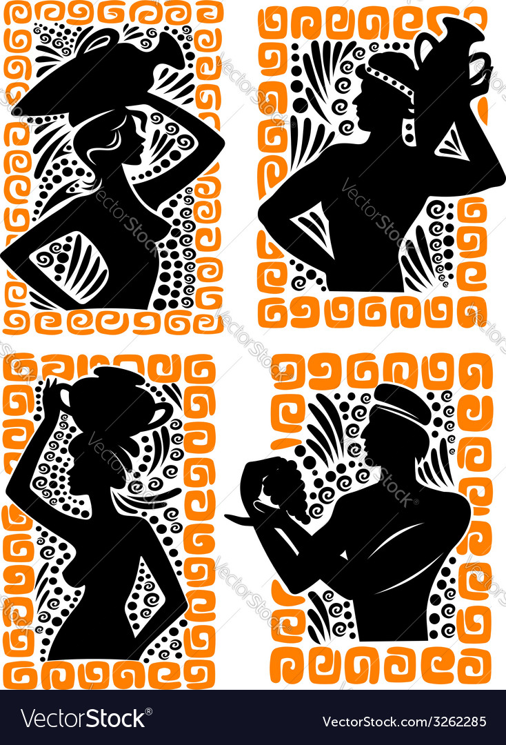 Classical Greek or Roman figures vector image