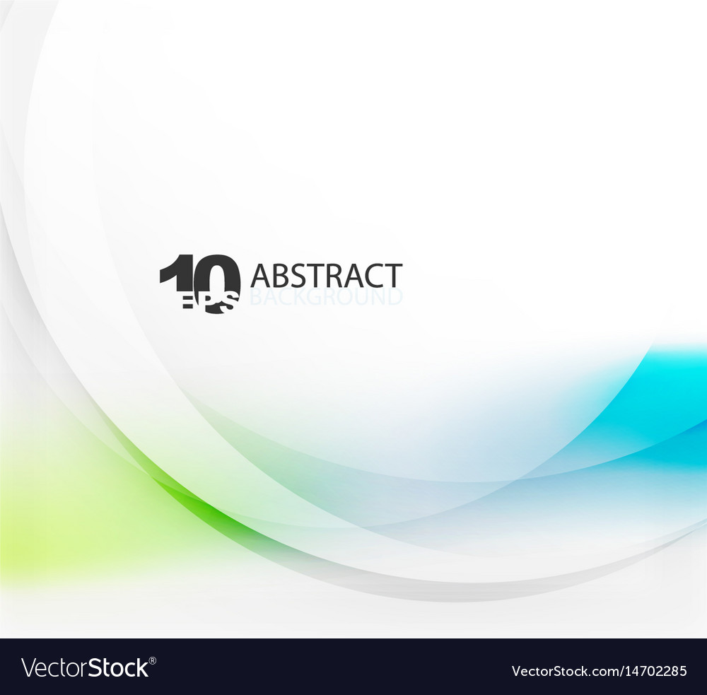 Smooth wave template vector image