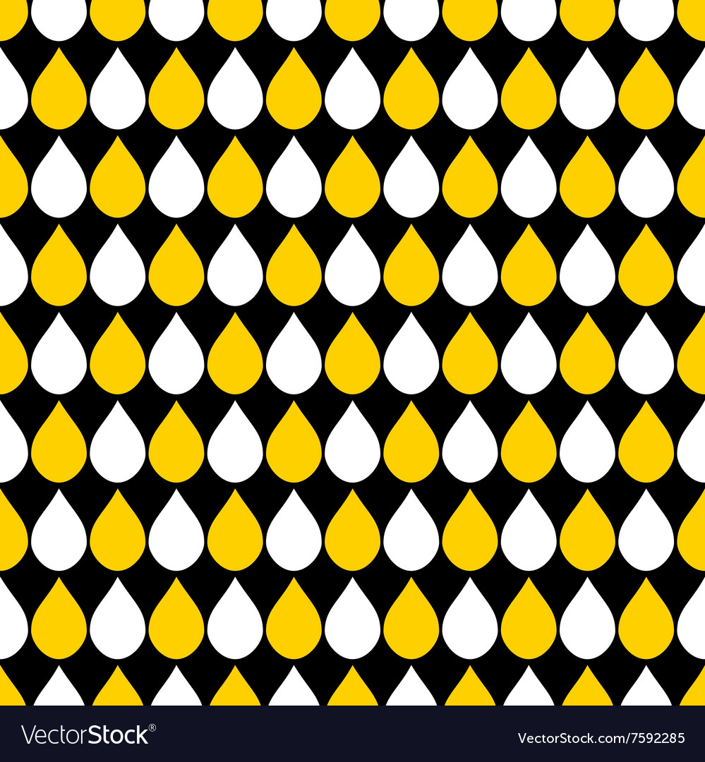 Yellow White Black Water Drops Background vector image