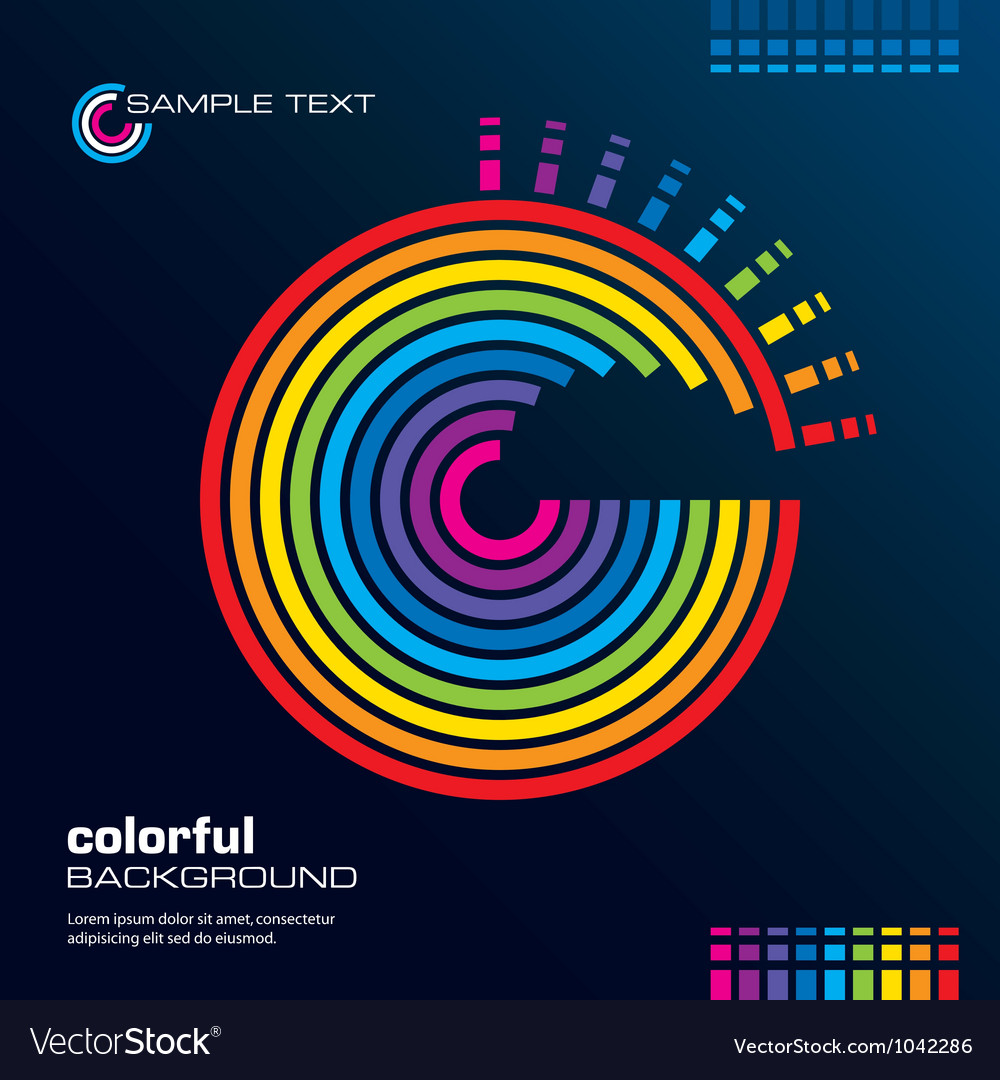 Abstract rainbow circles background vector image