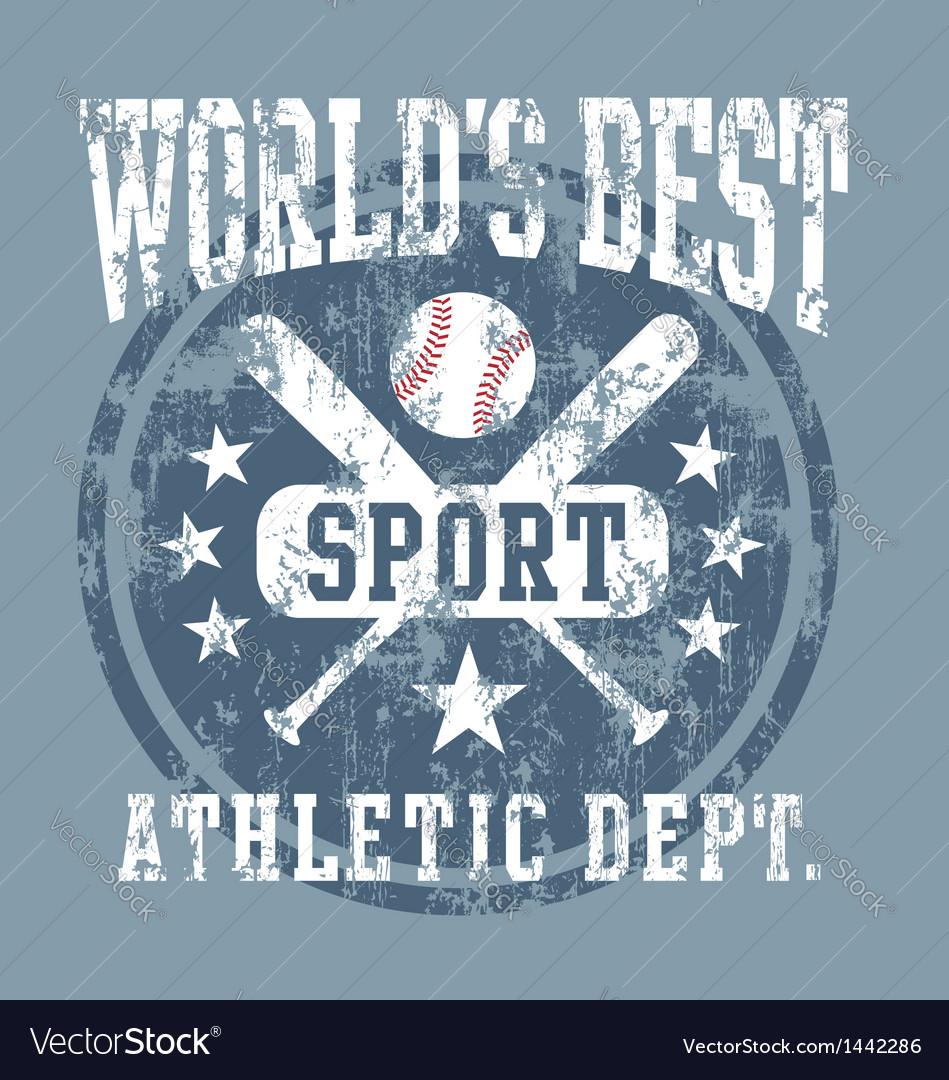 Baseball best sport vector image