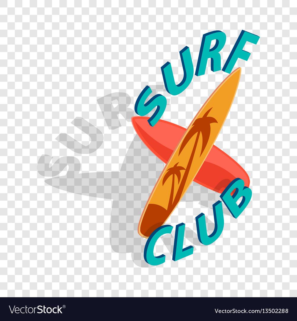 Surf club isometric icon vector image