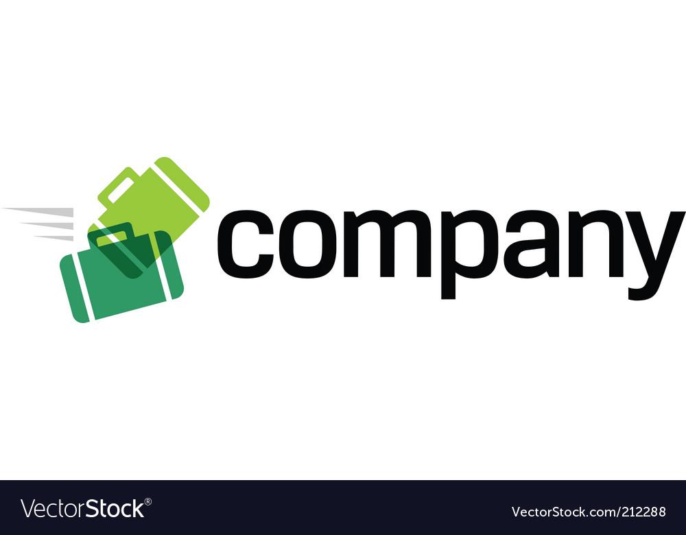 Travel agency logo vector image