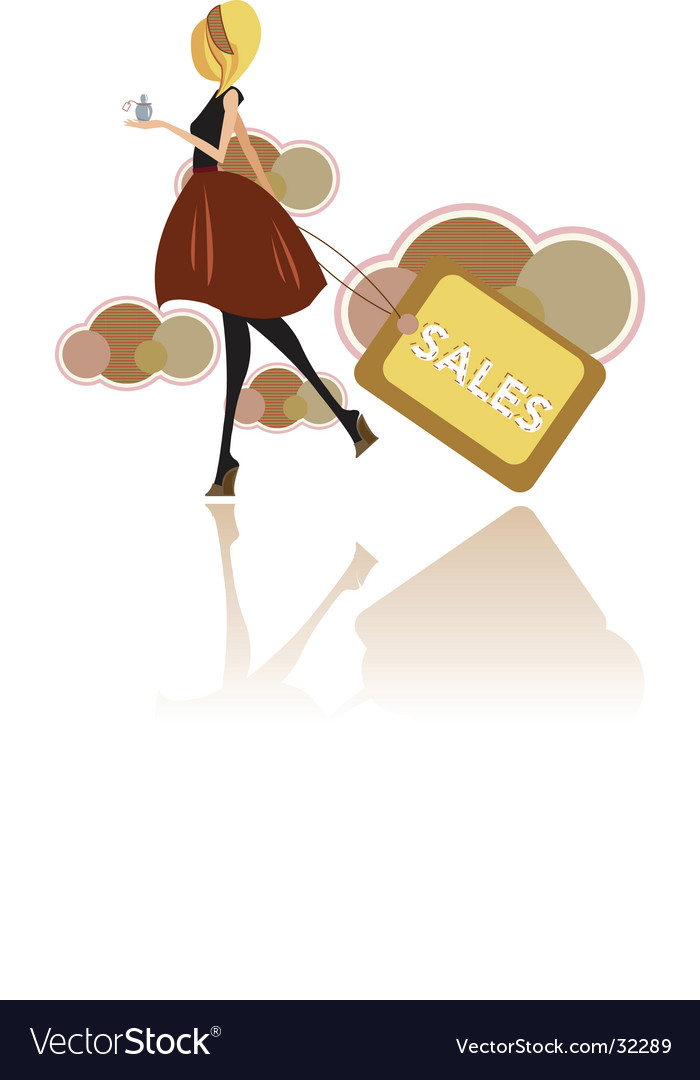 Fashion sales vector image