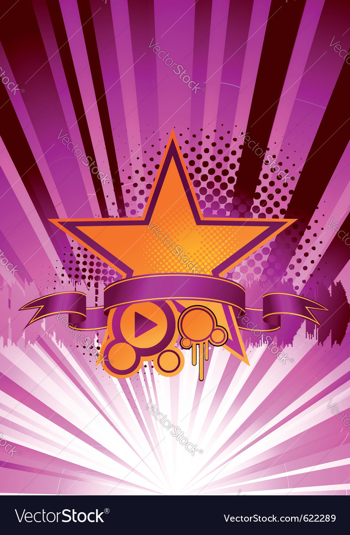 Dance music explosion vector image