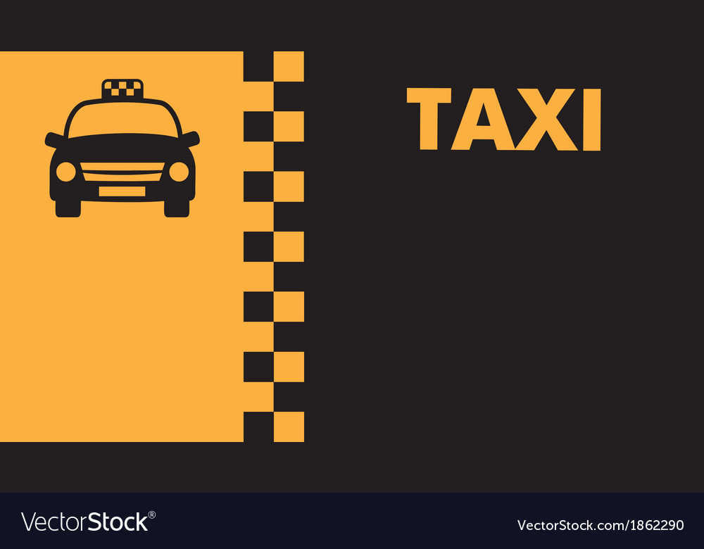 Business card for taxi drivers Royalty Free Vector Image