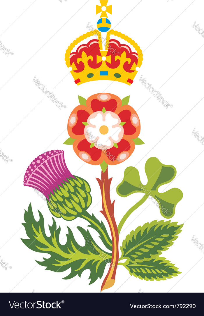 Royal badge of uk of great britain vector image