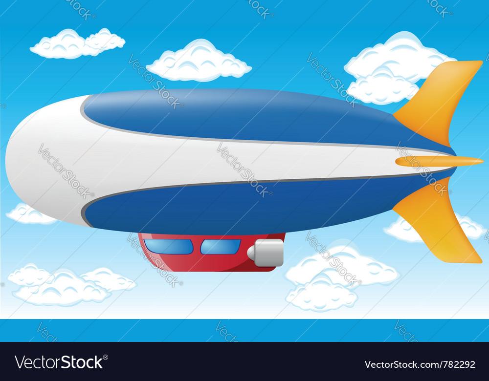 Zeppelin vector image