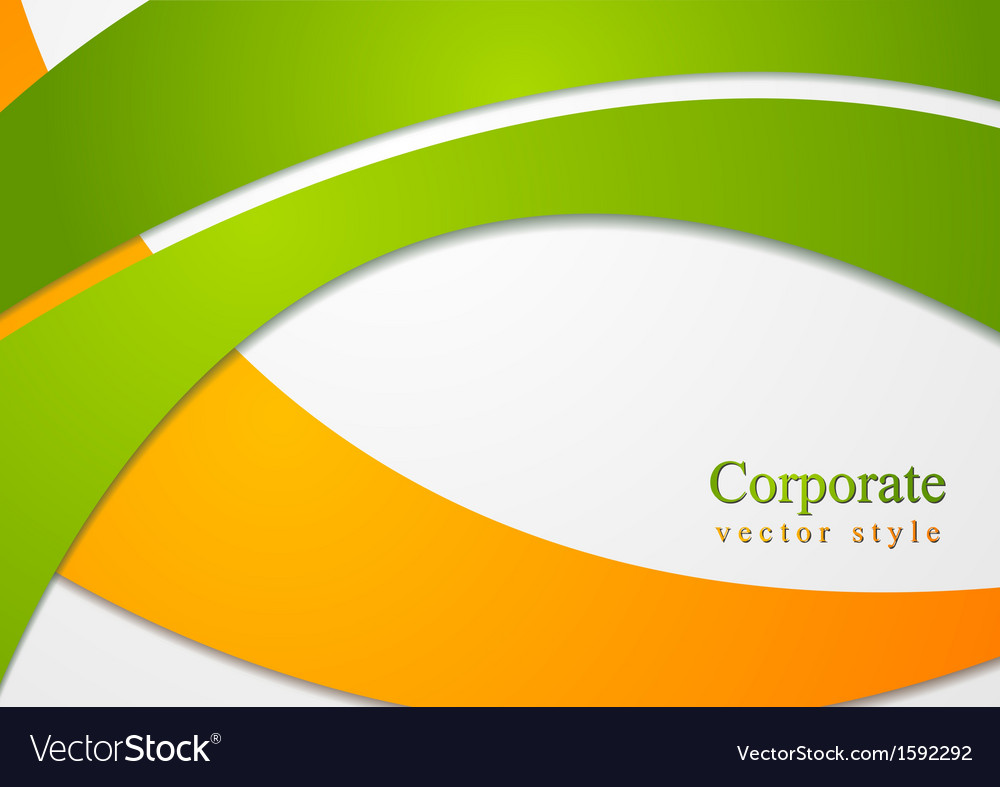 Bright corporate card design vector image