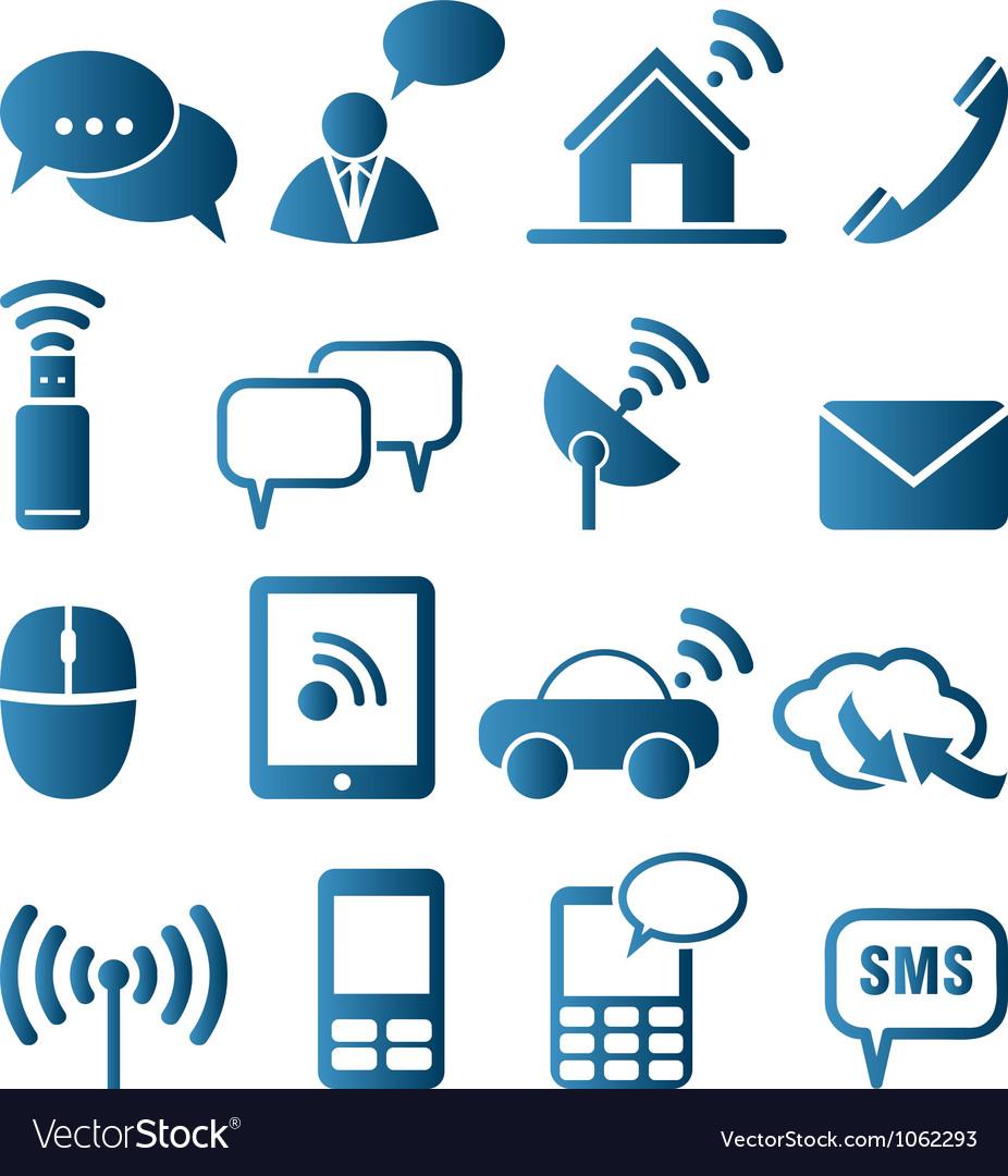 Icon set of communication vector image