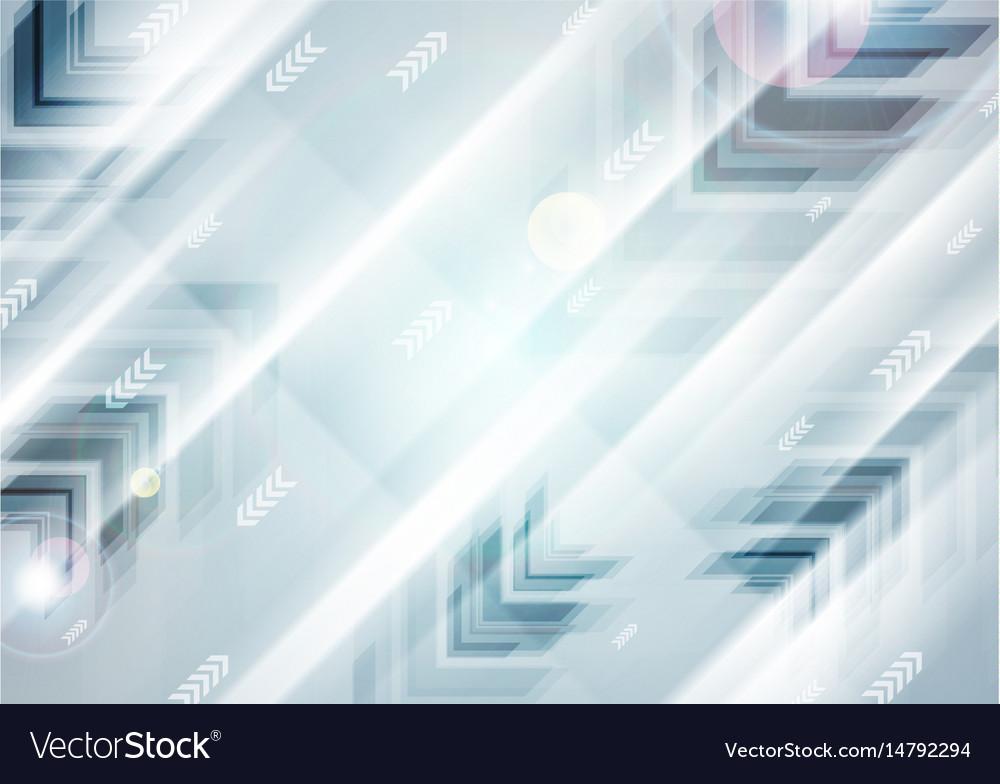 Abstract blue tech futuristic arrows vector image