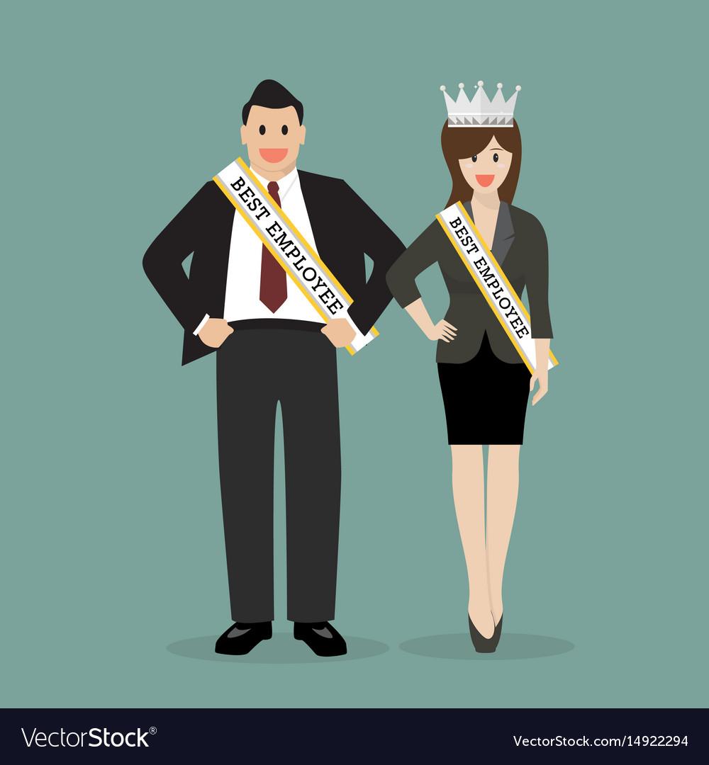 Best employee of company vector image