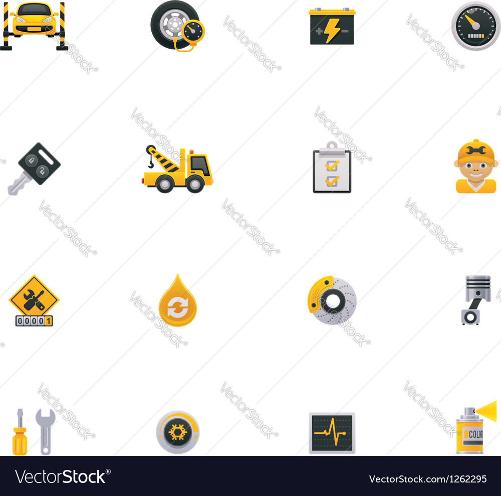 Car service icon set Part 1 vector image