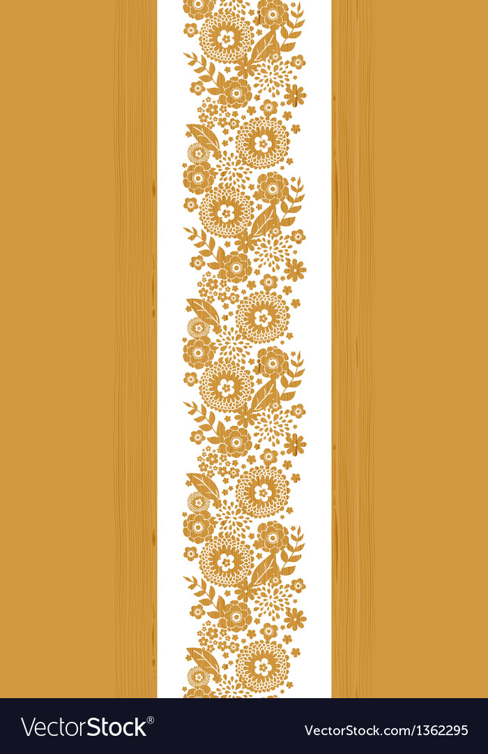 Textured flowers vertical seamless pattern vector image