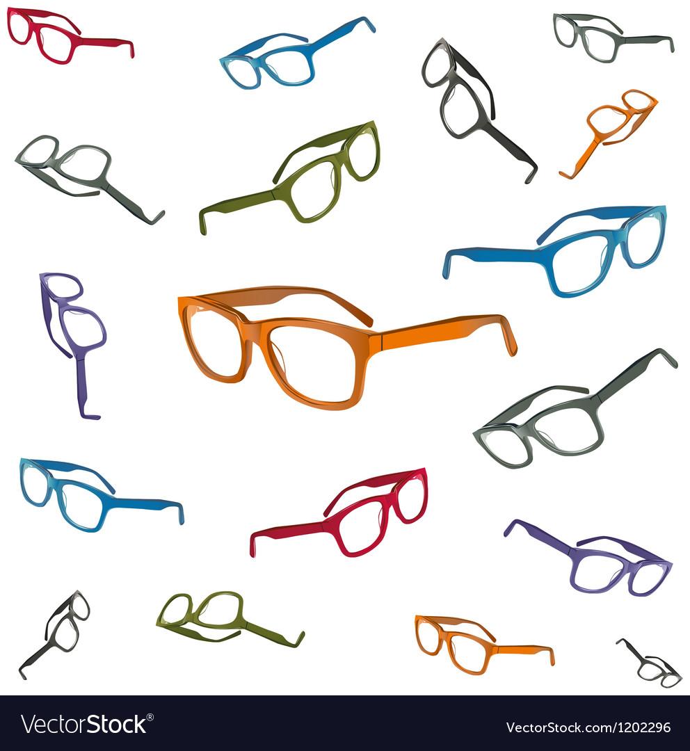 Flying glasses vector image