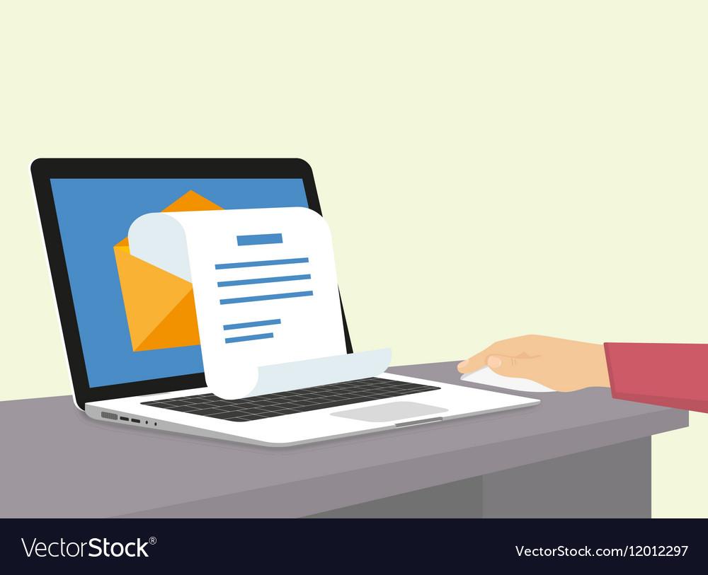 Newsletter vector image