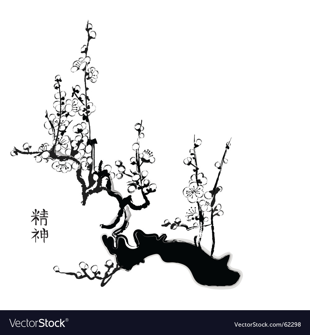 Sacra Chinese painting vector image