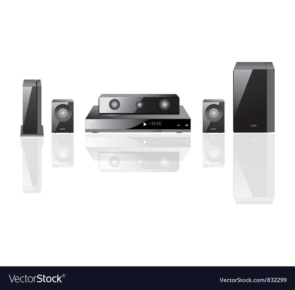 Acoustics theater components vector image
