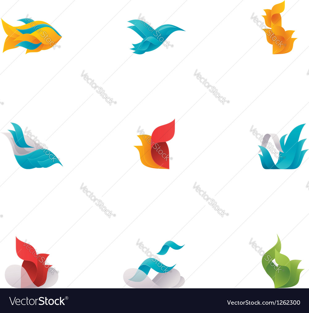 Abstract nature elements vector image