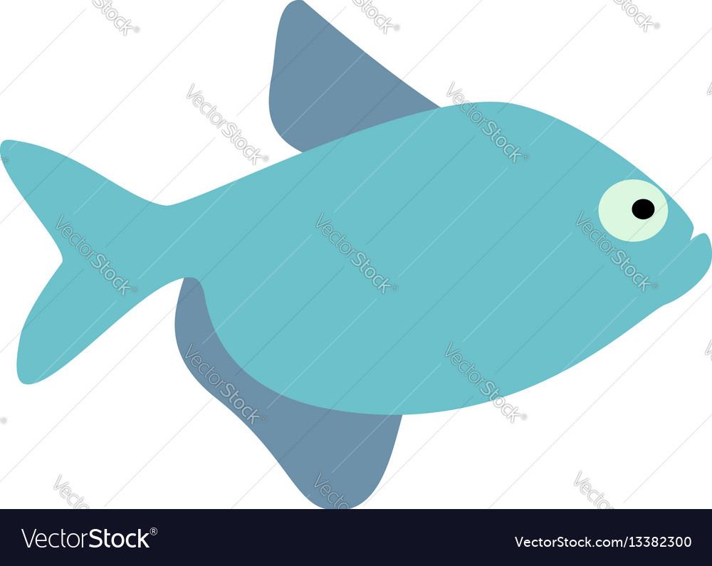 Cute fish icons set fish flat vector image