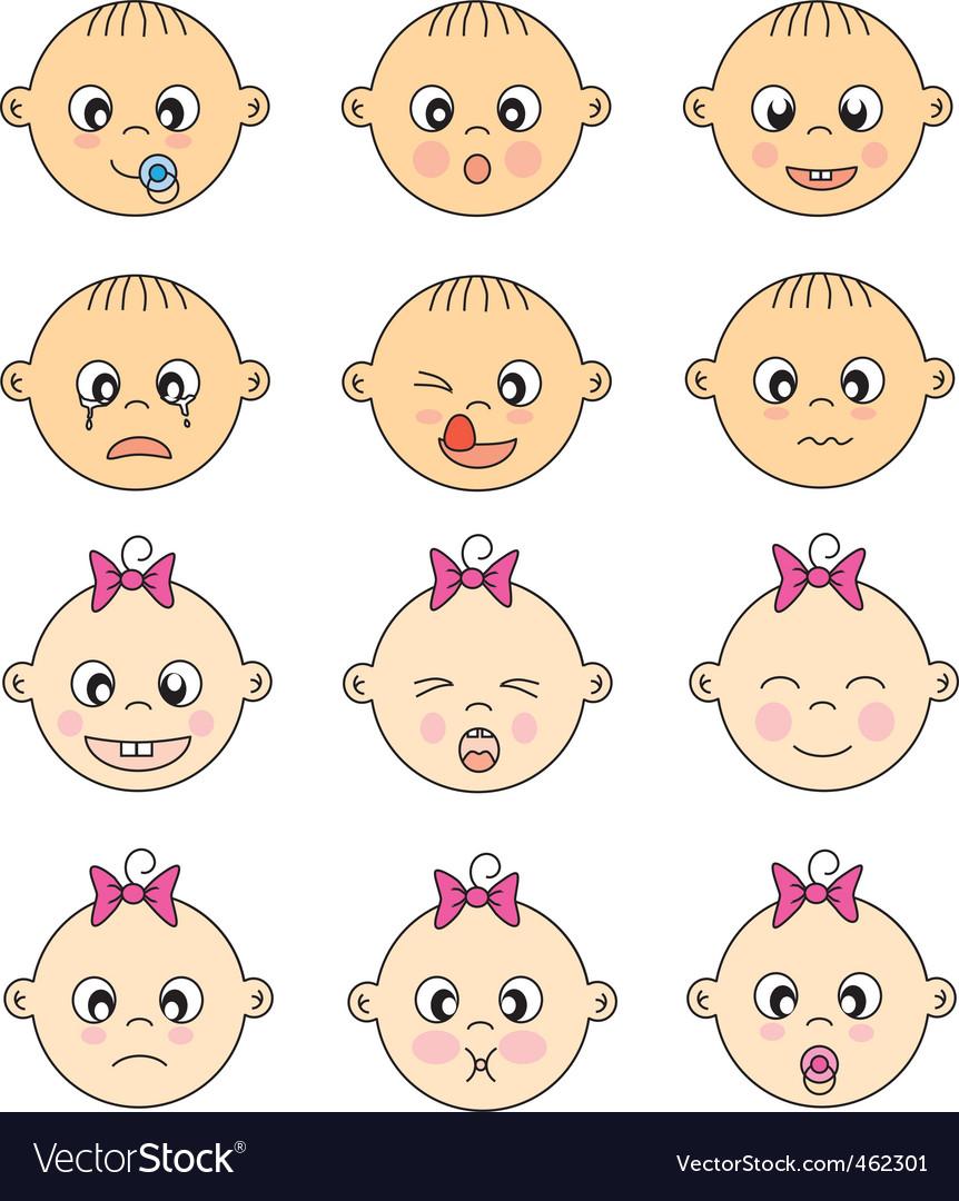 Facebaby vector image