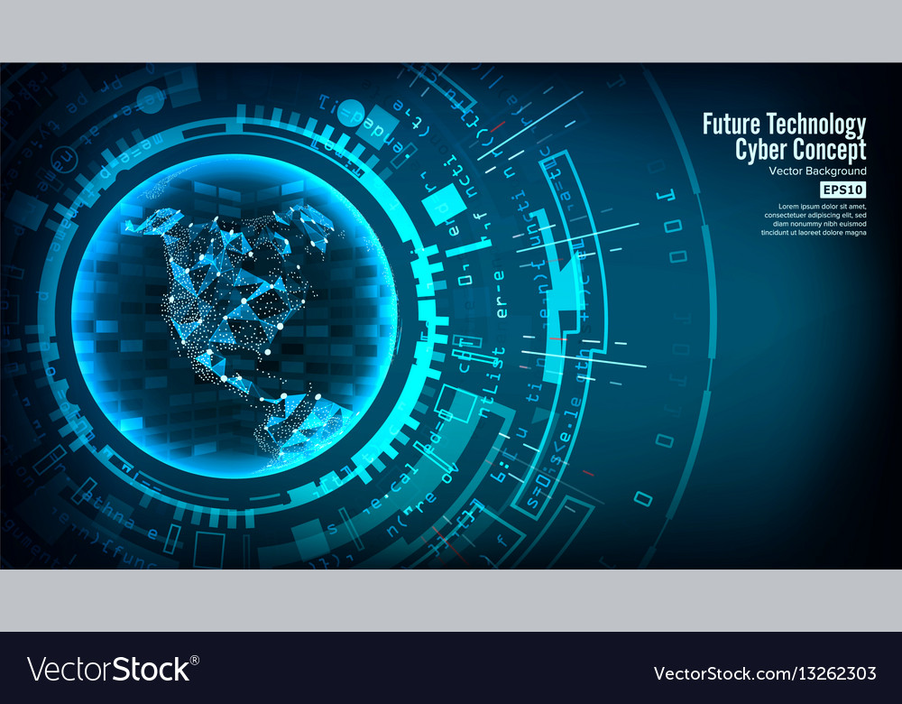Futuristic technology connection structure vector image