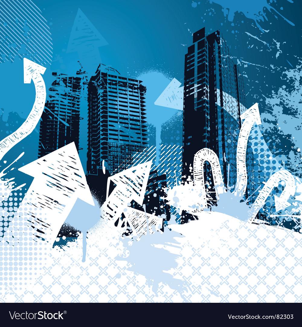 Grunge city design vector image