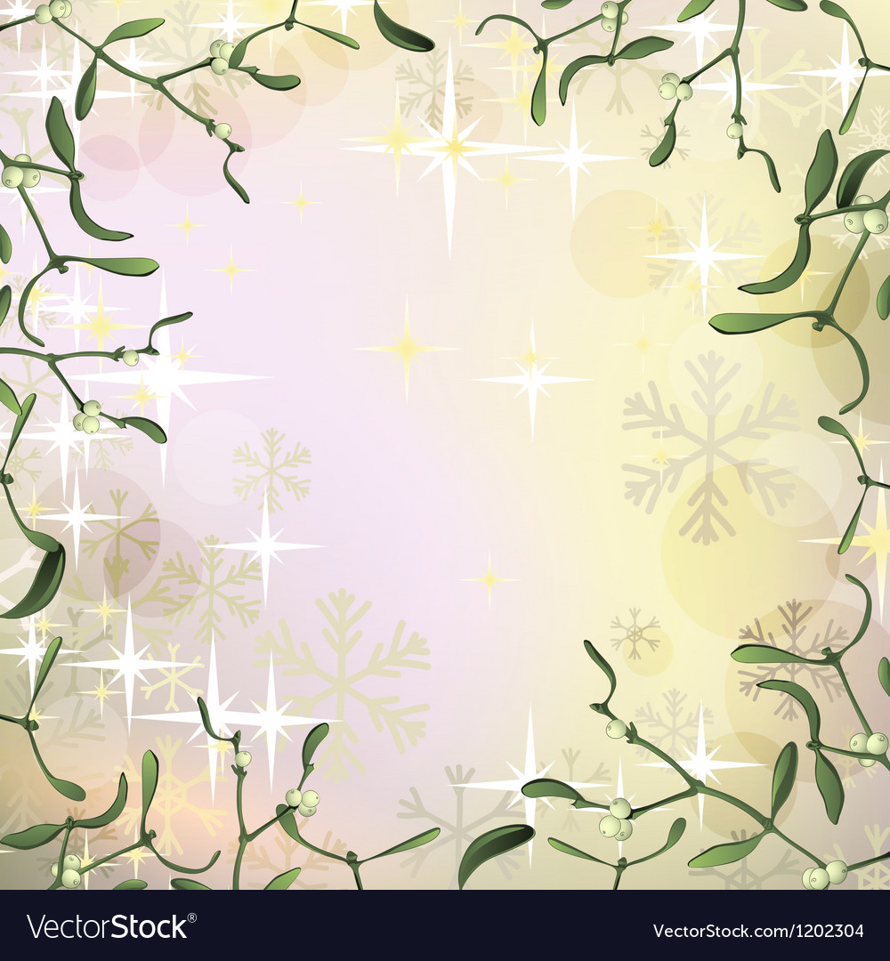 Mistletoe frame for Christmas background with vector image