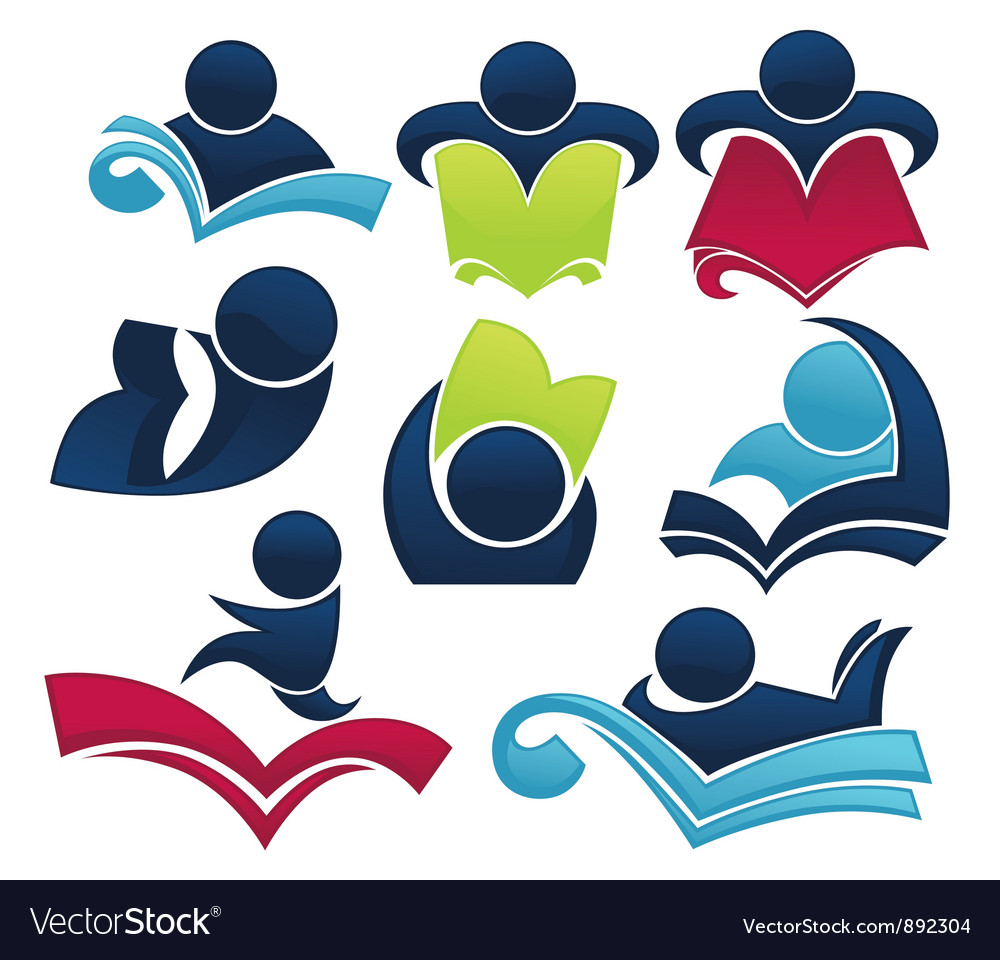 Studying symbols and education icons vector image