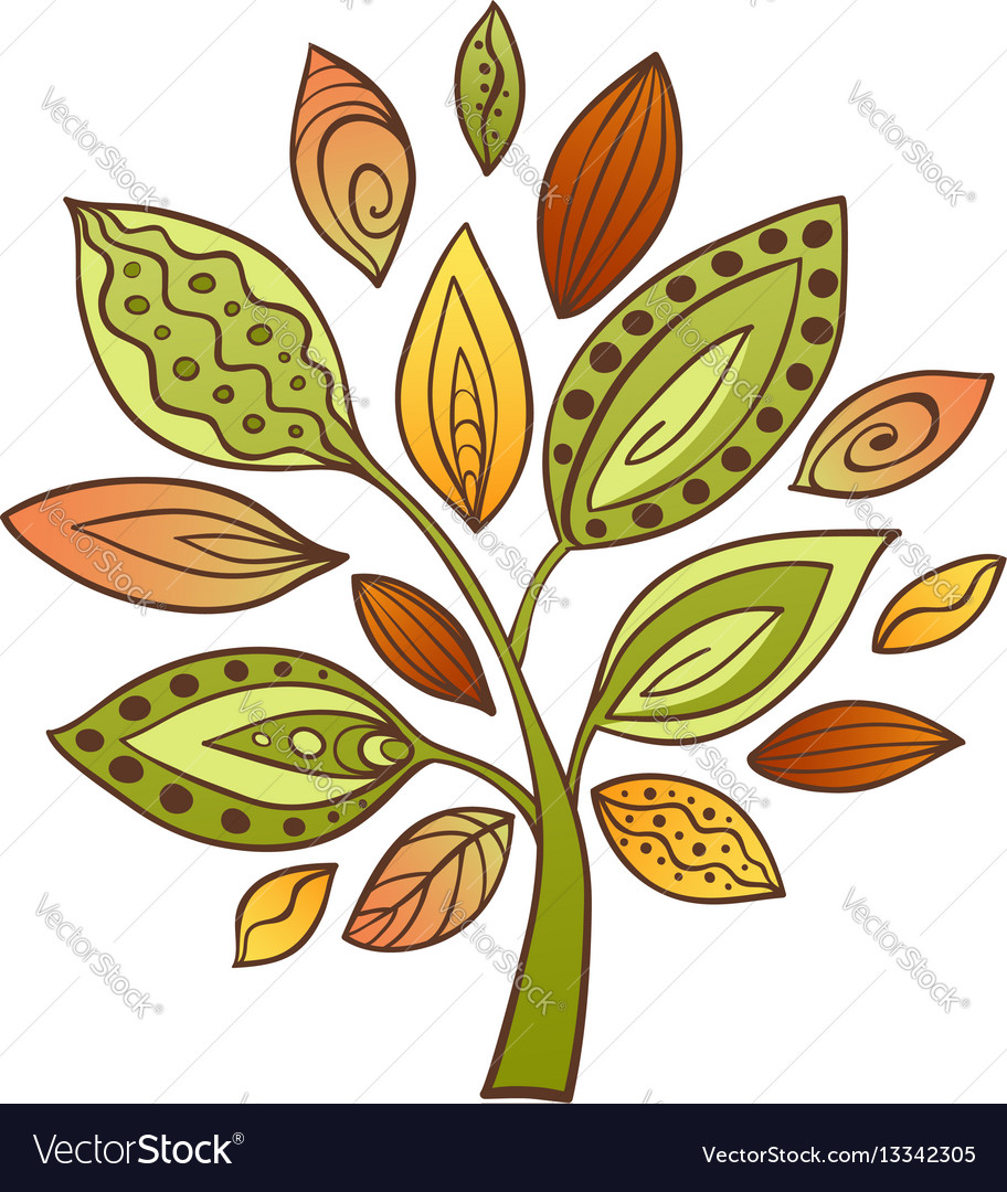 Decorative abstract tree vector image