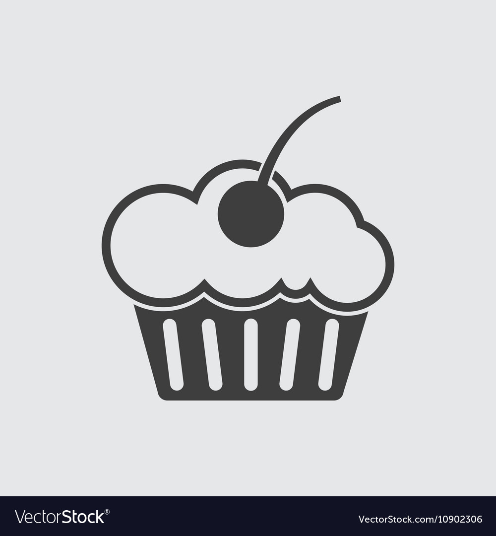 Muffin cake icon vector image