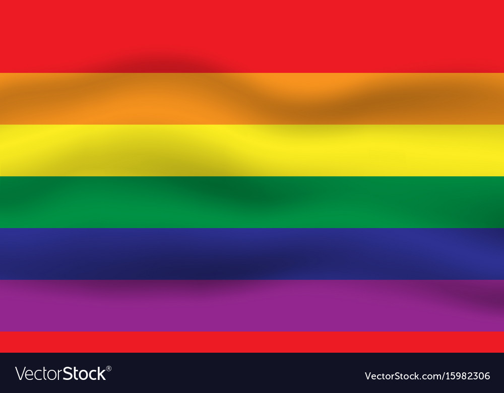 Rainbow flag movement background vector image