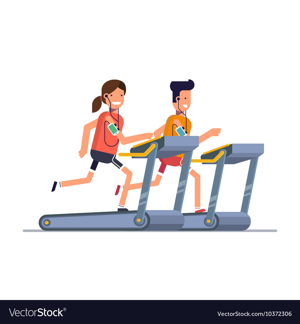 The guy with the girl goes in for sports on a vector image