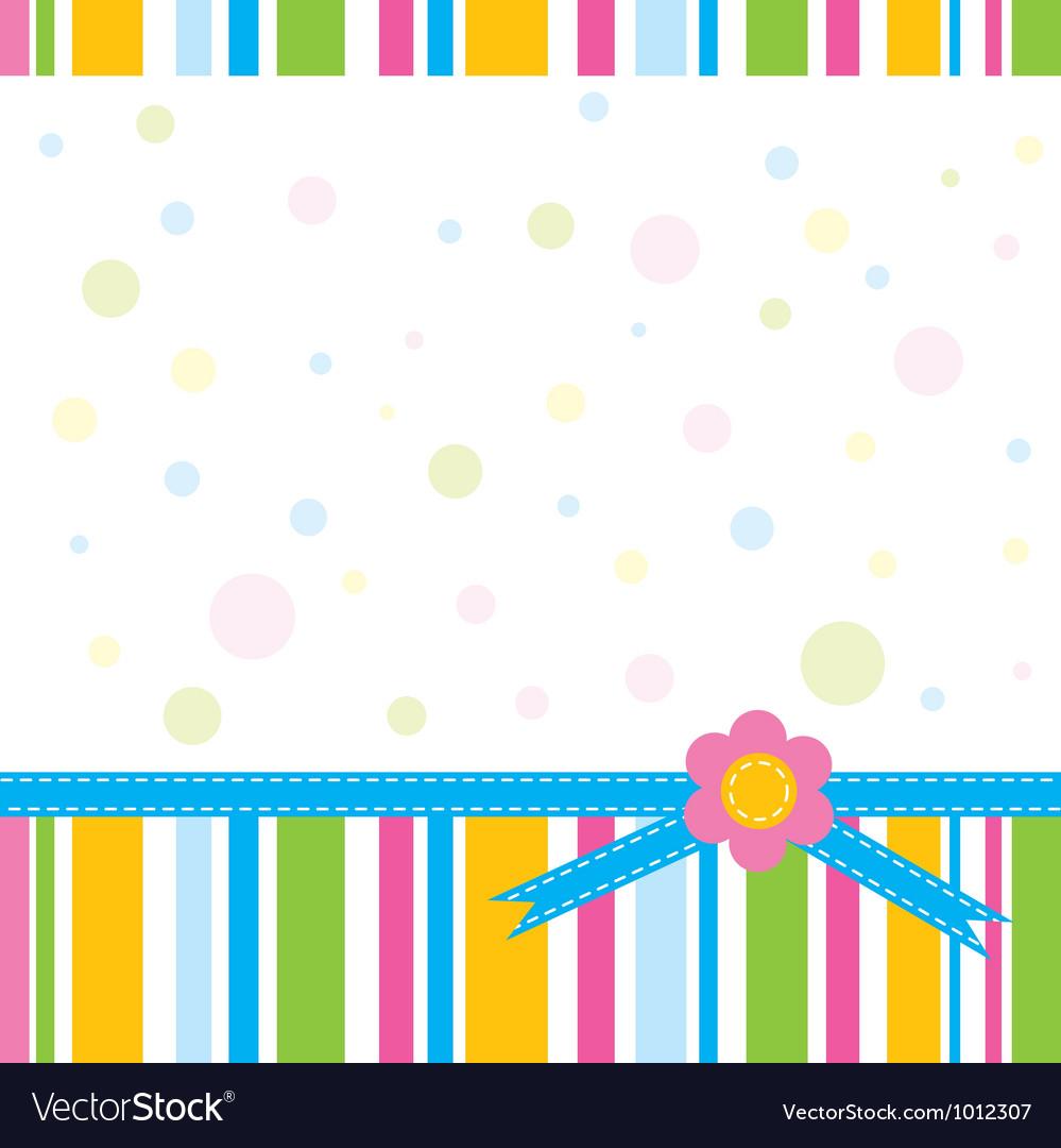 Scrapbook greeting card template vector image