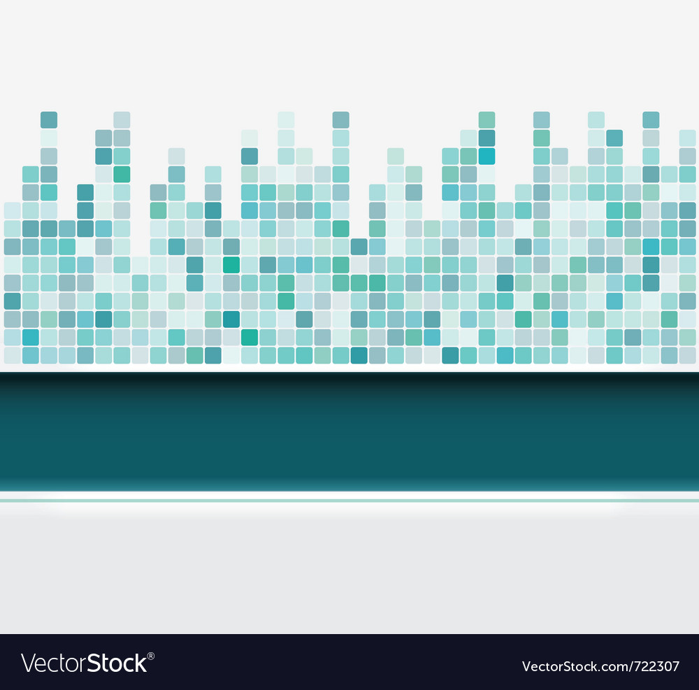 Mosaic square background vector image