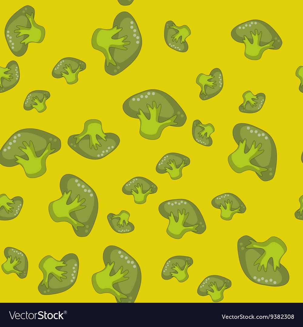 Green spinach seamless cartoon pattern 559 vector image