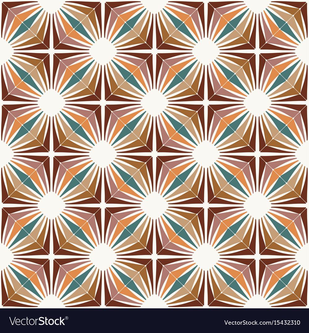 Retro wallpaper vintage pattern vector image