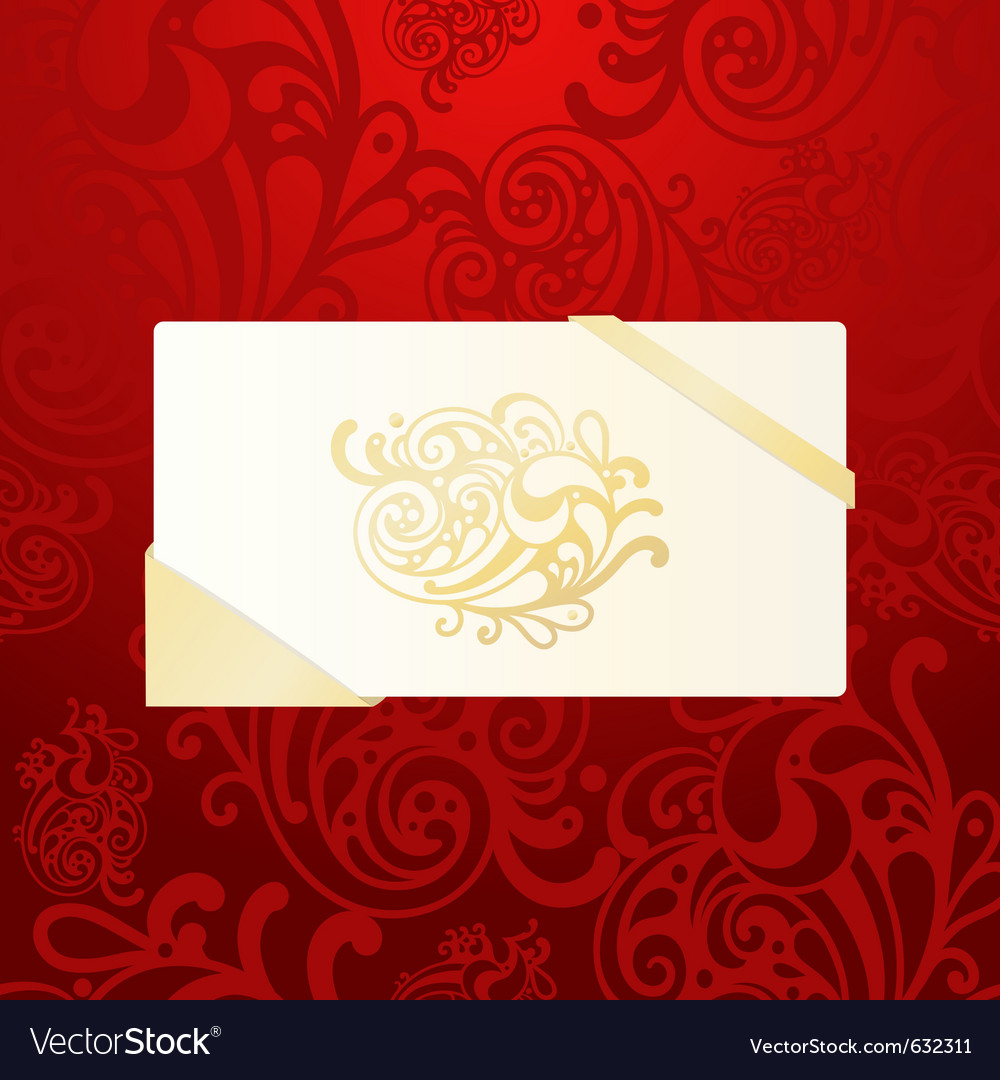 Eps10 christmas greeting card on abstract seamless vector image
