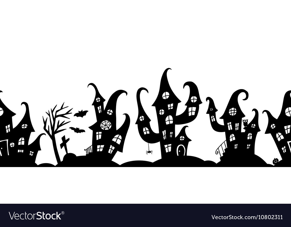Seamless border for Halloween party vector image