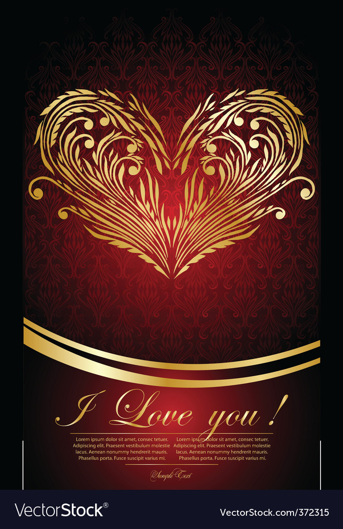 Vintage greeting background with hearts vector image